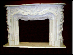 Floral Marble Mantle