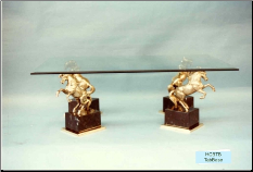 4 Horses Stand on Marble Coffee Table Base
