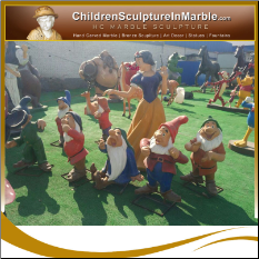 Snow White and the Seven Dwarfs Fiberglass Statues