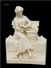 Life Size Marble Maiden Statues