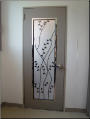 Wrought iron door panel 2