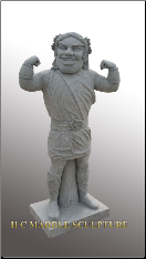 Custom Marble Statue of School Mascot