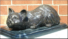 Cat on Marble Base, One of 2 Designs
