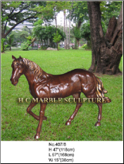 Walking Bronze Horse Statue