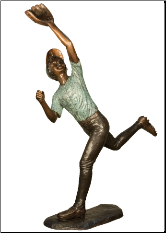 Bronze Baseball Player Sculpture #5