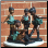 Set of 4 Bronze Girl Ballerina Statues
