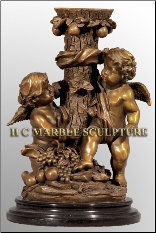 Bronze Candle Holder with 2 Angels