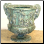 Grapevine Urn in Green Patina finish