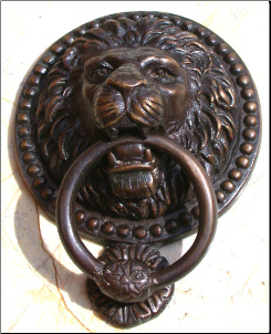 Lion w/ Ring Door Knocker