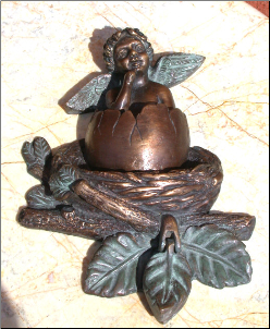 Cupid w/ Nest Door Knocker