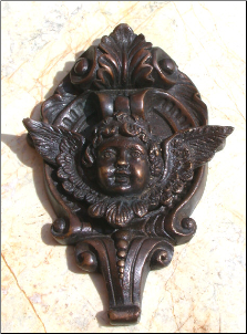 Cupid on Base Door Knocker