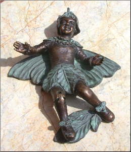 Fairy w/ Leaf Door Knocker