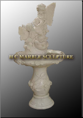 Baby Fairies Marble Fountain