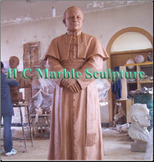 Bronze Statue Saint Pope John Paul 11 - Clay Model