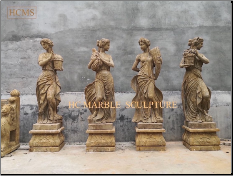 Four Seasons Antique Marble Statues
