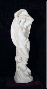 Marbel Sculpture Lady w/ Cloth