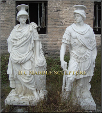 Roman Marble Statues in White Marble