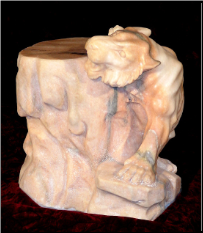 Marble Tiger Stool