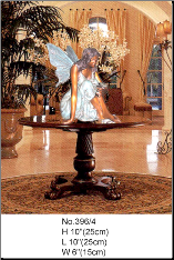 Marble Statue Fairy Sitting on Entry Table