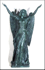 Bronze Standing Angel (Large Green}