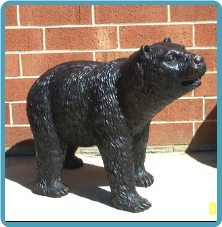 Small Standing Bronze Bear