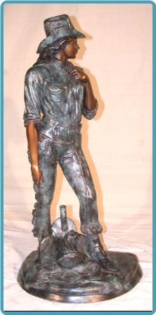 Cowgirl Bronze Sculpture