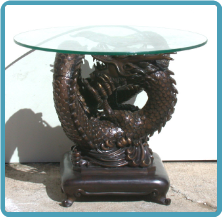 Bronze Dragon Table Base