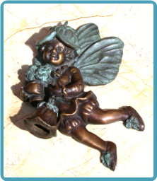 Fairy w/ Flower Door Knocker