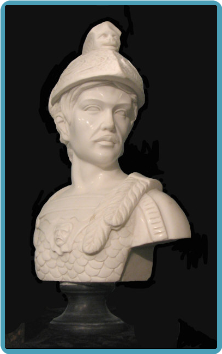 Marble Bust Roman Soldier