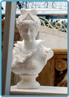 Marble Victorian Lady Bust