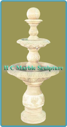Cream Marble 3 Tier Ball Fountain