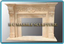 Surround Marble Mantle / Color Rose