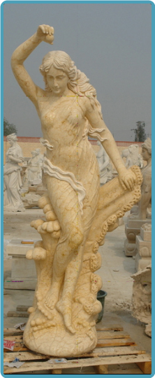 Life Size Marble Statue of Eve Eyp Yellow