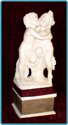 Kissing Cherubs with Base
