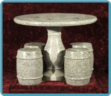 Marble Children's Table With 4 Stools