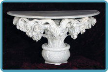 Rose Vine Half Marble Table