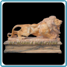 CLOUD PINK MARBLE LION