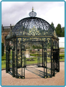 Wrought Iron Round Gazebo 1