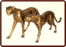 Bronze Cheetah's Pair of Male & Female