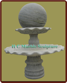Green Marble 2 Tier Ball Fountain