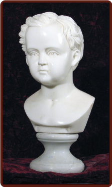 Marble Baby Boy Bust