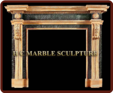 Marble Mantle Sunflower
