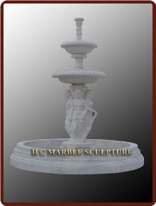 3 Tier Female Figure Fountain