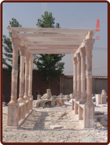 Marble Rectangular Gazebo