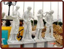 Marble Musical Band Statue Set