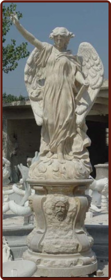 Marble Angel Life Size Statue