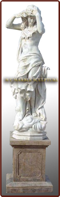 Marble Statue Lovely Lady