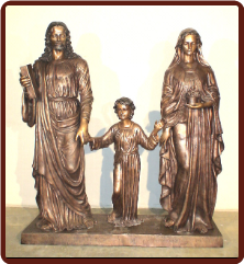 Blessed Holy Family Glorious Bronze Sculpture