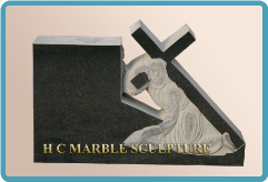 Granite Monument Jesus Carry Cross