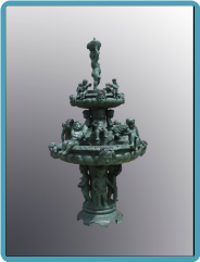 Finished Fountain in Green Patina